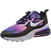 Nike W Air MAX 270 React SE, Zapatillas para Correr para Mujer, Hyper Blue White Magic Flamingo Vivid Purple Black, 41 EU