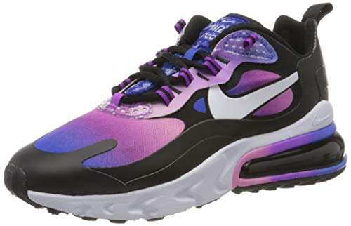 Nike W Air MAX 270 React SE, Zapatillas para Correr Mujer, Hyper Blue White Magic Flamingo Vivid Purple Black, 38 EU