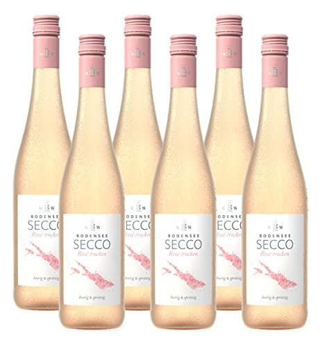 Markgraf von Baden Bodensee Secco Rosé, Deutscher Perlwein (6 x 0.75l)