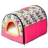 Cesta para Mascotas de Felpa 4 Colores Diferentes y 3 tamaños - Lavable y Resistente a los arañazos casa para los Perros y Gatos (Style 5, XXL)