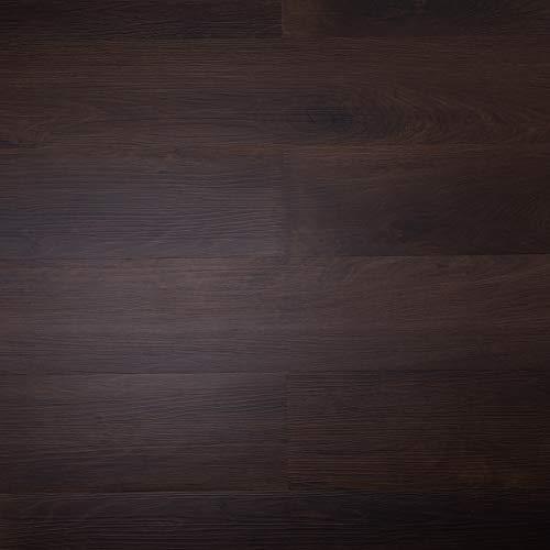 CO-Z 16 PCS 24 Square Feet, Odorless Vinyl Floor Planks Adhesive Floor Tiles 2.0mm Thick (Cherry)