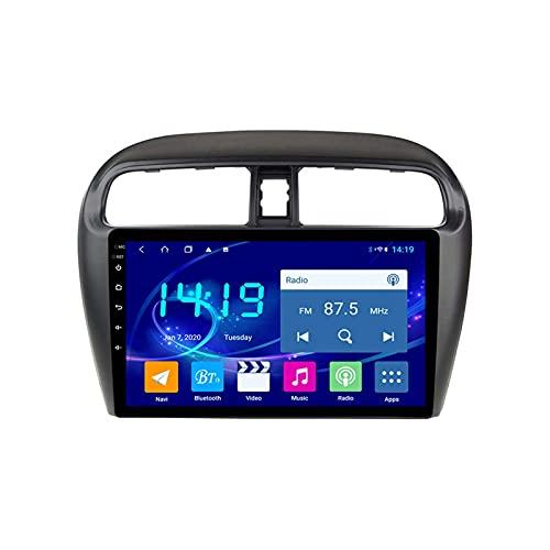 Coche Radio Video Stereo Para Mitsubishi Mirage Attrage 2012-2018 Cabeza Auto Multimedia Player SAT NAV FM AM Receptor 1080P HD Pantalla Táctil GPS Wifi Bluetooth Mirrorlink,8 core 4g+wifi: 2+32gb