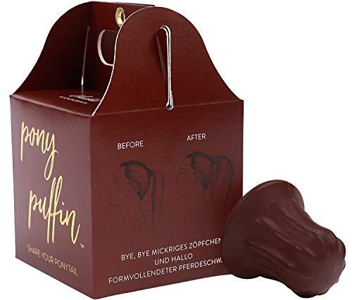pony puffin Chocolate - Schokobraun Besonders Für Braunes Haar Fülliger Pferdeschwanz Frisurenhilfe Zopf Hilfe Haarstyling (/ chocolate)