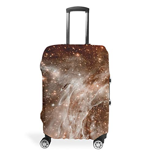 Galaxy Travel Luggage Covers - Mist Distinctive Suitcase Protector 4 Sizes Fit Protective Case, White (White) - Bannihorse-scc