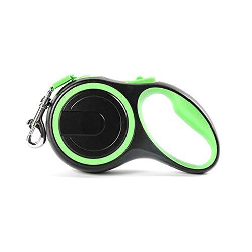 Lishi Easy One Touch Brems- und Verriegelung einziehbare Welpenleine Heavy Duty Automatische Aufwicklung Hundeleine Haustier Trainingsleine (3M/5M/8M) (Blau/Pink/Schwarz/Grün)