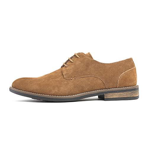 Bruno Marc Men's URBAN-08 Tan Suede Leather Lace Up Oxfords Shoes – 13 M US