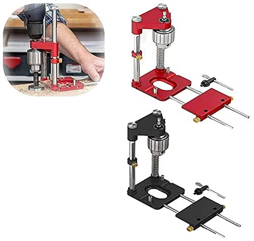 Woodpeckers Auto-line Drill Guide, El Mejor Localizador De Taladros Para Carpintería, Mini Taladradora De Banco Con Alta Velocidad (rojo)