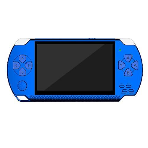 SU Consola de Juegos para niños PSP para Adultos, de 4,3 Pulgadas, 32 bits, 8 GB, Arcade Nostálgico, Reproductor mp5,Blue