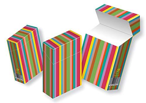 cardbox media solutions slipp overall ZIGARETTENSCHACHTEL ÜBERZIEHER Zigarettenschachtel Hülle Komplettüberzieher mit Deckel (050 Streifen, 3 Stück)