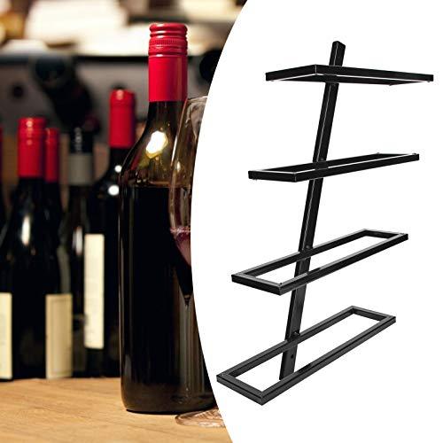 Zhat Soporte para Vino Tinto, Estante de Almacenamiento, Soporte para Botella de Vino Tinto, montado en la Pared para Cocina de Bodega(Inclined Wine Rack for 4 Bottles Black)