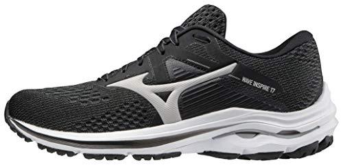 Mizuno Women's Wave Inspire 17 Running Shoe, Dark Shadow-Lunar, 8.5