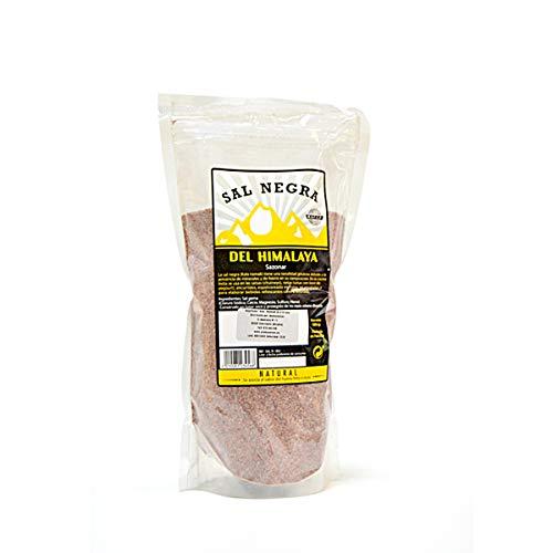 AROMASENSES Sal del Himalaya Negra Fina 1 kg.- 100% Natual sin conservantes ni aditivos.