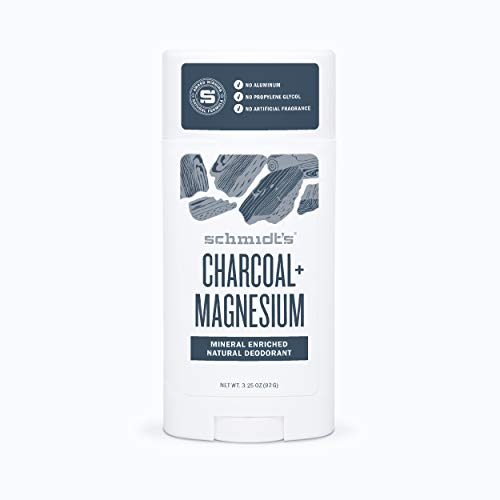 Schmidt's Natural Deodorant - Charcoal and Magnesium, 3.25 ounces. Stick for Women and Men
