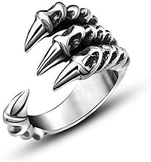 خاتم مفتوح الاستبداد شخصية مخلب الذيل الدائري فضة حادة الرجال المرأة والمجوهرات
