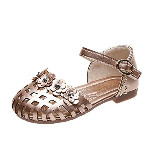 JDGY Sandales pour fille - Chaussures de princesse - Antidérapantes - Creuses - Respirantes - Pour la plage - Pour les loisirs et le trekking., or, 27
