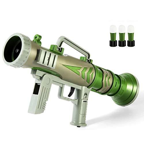 DUTUI Mortero De Sonido Y Luz para Niños, Bazooka Puede Lanzar Regalos De Juguete para Niños, Efectos De Sonido De Simulación De Bazooka Eléctrica