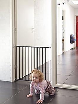 BabyDan Multidan Barrière de Porte/Escaliers Métal Noir 62,5 à 106,8 cm
