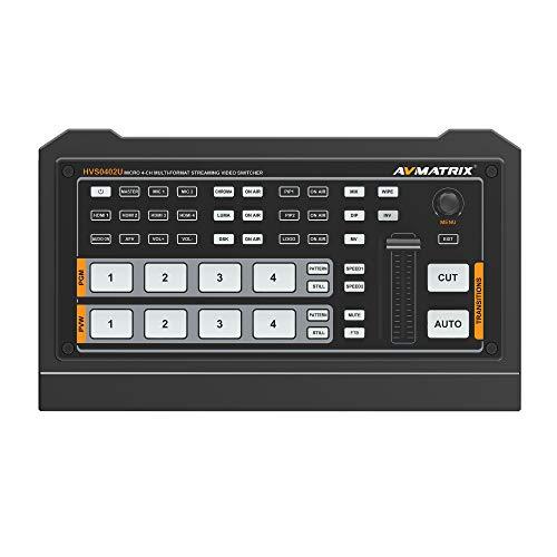 AVMatrix HVS0402U Micro 4-Channel HDMI Live Stream Multi-Format Video Switcher