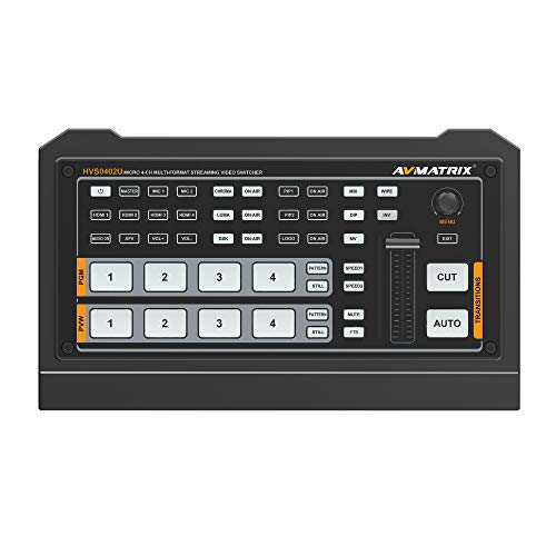 AVMATRIX HVS0402U Micro 4 canales HDMI Live Streaming Video Switch 1 x HDMI Salida PGM, 1 x salida multiview HDMI, 1 x salida USB tipo C