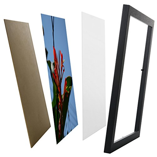 Photo Frame Picture Frame 11x14 Inch - WOODEN Non Glass without Mat For Display Certificate/Photo/Picture for Wall Mount Wooden Frames- W51114G BLACK