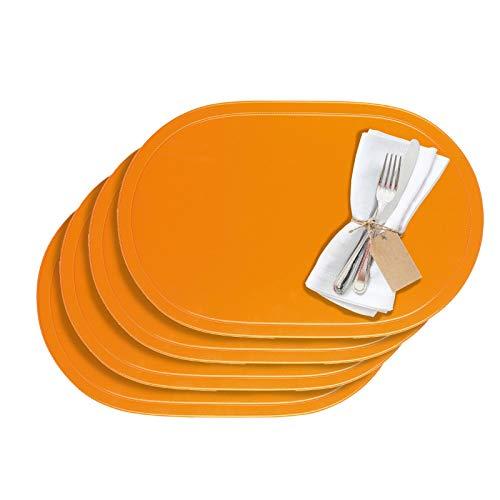 Westmark Tischsets/Platzsets, 4 Stück, 45,5 x 29 cm, Vinyl, Orange, Saleen Edition: Fun