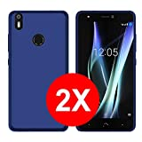 TBOC 2X Coque Gel TPU Bleu pour bq Aquaris X Pro (5.2 Pouces) [Pack: Deux Unités] en Silicone...