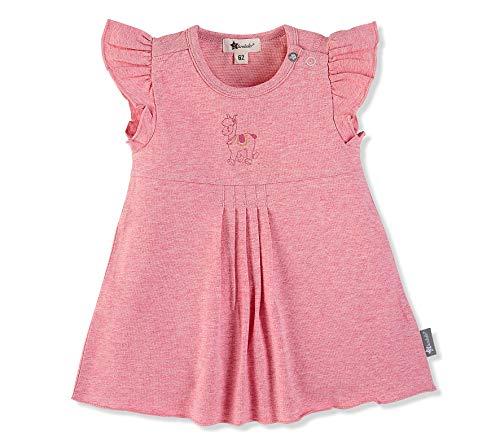 Sterntaler Tunika-Kleid für Mädchen, Niedliches Lama Lotte-Motiv, Alter: 4-5 Monate, Größe: 62, Rosa