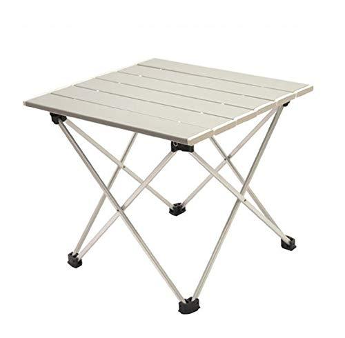 QHGao lichtgewicht aluminium vouwtafel, kleine ultralichte draagbare campingtafel voor binnen en buiten picknicks, barbecue, strand, wandelen, reizen, vissen, thuisgebruik, gemakkelijk te reinigen