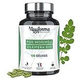 Moringa Oleifera Bio • Formule 30% Plus Riche en Protéines • Super Aliment Riche en Vitamines, Minéraux et Protéines • Cure de 60 Jours, 120 Gélules • Fabriqué et Conditionné en France par Apyforme
