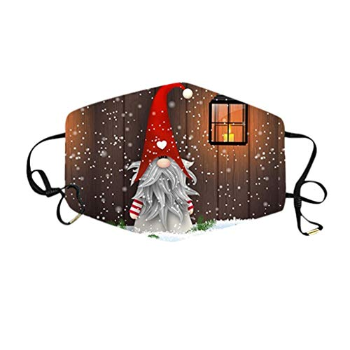WDNMD Unisex Face Covering Outdoor Dustproof Windproof Face Balaclavas Protective Reusable Washable Bandana Christmas Faceless Doll Print Màcks for Adult (AA)