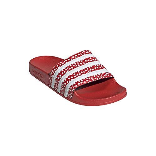 adidas Chanclas Adilette, color Rojo, talla 39 EU