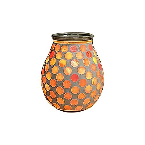 Fuaensm Diffuseur d'huiles essentielles mosaïque en verre pour chambre à coucher, brûleur d'encens romantique, veilleuse, décoration de table de chevet