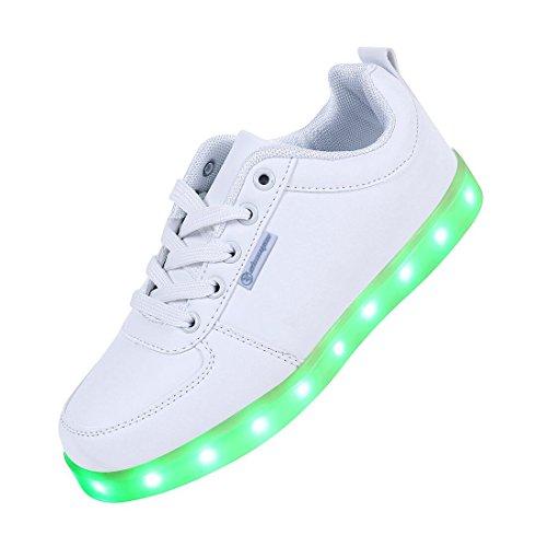 Shinmax Serie de Adultos Zapatillas LED USB de Carga de 7 Colores de Luz...