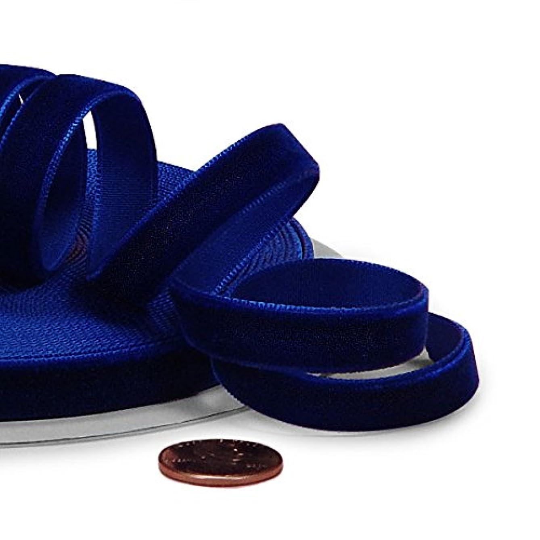 Royal Blue Velvet Ribbon, 5/8