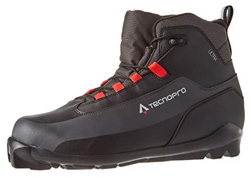 TECNOPRO Herren Ultra Traillaufschuh, Schwarz/Grau/Rot, 47 1/3 EU