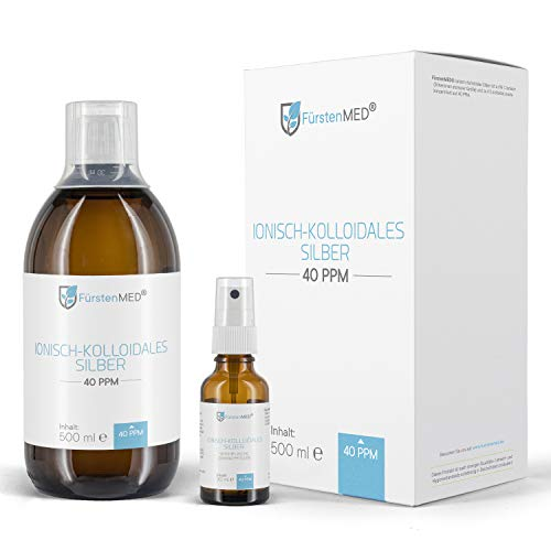 FürstenMED® Kolloidales Silber - Hoch konzentriert 40PPM - Braunglasflasche aus Deutschland ohne Zusatzstoffe (500 ml)