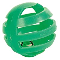 Very nice rattling ball for cats to play Made of high quality plastic material Comes with a bell inside Provide lots of fun to your cat Diameter: 4 cm