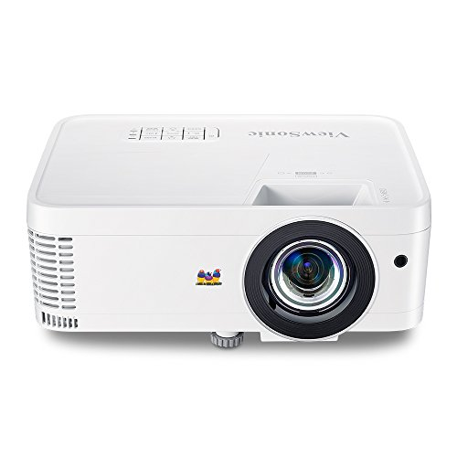 ViewSonic 1080p Short Throw Projector with 3000 Lumens 22,000:1 DLP Dual HDMI USB C and Low Input Lag, Stream Netflix with Dongle (PX706HD)