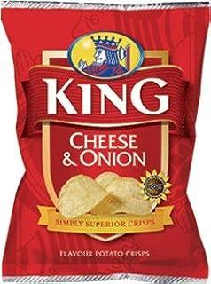 King Cheese & Onion Flavour Potato Crisps (16 x 37g pack)
