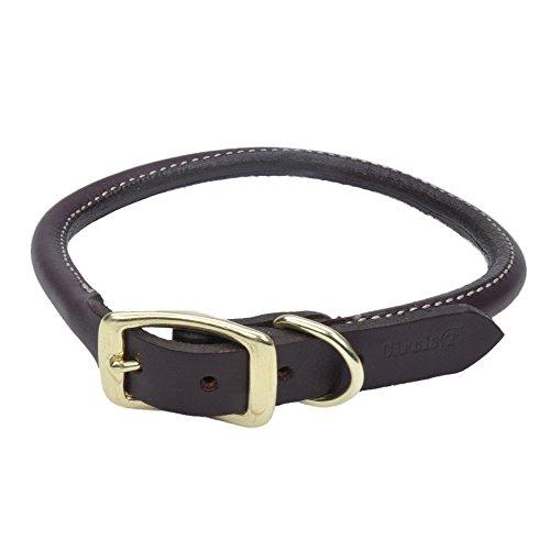Circle T Leather Coastal Pet Products Round Dog Collar with Solid Brass Hardware, 3/4' x 20', Latigo