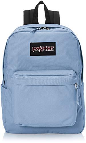 JanSport Superbreak Plus Backpack - School, Work, Travel, or Laptop Bookbag with Water Bottle Pocket, Blue Agave