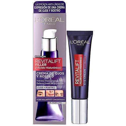 L'Oréal Paris Crema Antiedad de Ojos y Rostro Revilafit Filler,