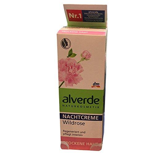 alverde Nachtcreme Wildrose für Trockene Haut (50ml)