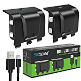 Battery Pack Rechargeable for Xbox Series X/S (2020), YCCTEAM 2 Pack 1000mAh Controller Battery Pack, 2.5h Fast Charge Play & Charge Kit Rechargeable Packs with 2FT Type-C USB Charging Cable