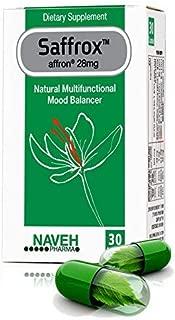 Natural Mood Balancer Anxiety Stress Relieve Sleeping Aid SAFFROX 30 caps.