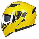 Modular Full/Open Face Motorcycle Helmet Double Visor, Flip-Up Front Motorbike Helmet with DOT