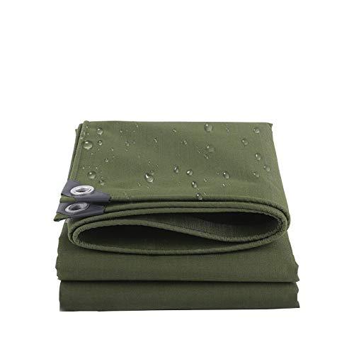 Lonas claras Tarpa de impermeable de servicio pesado - Toldo al aire libre para el cultivo de pesca para acampar, grueso / duradero, resistencia al desgarre, 100% tasa de sombreado, sombra de sol verd