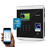 KINGHOS Time Clocks with Free Software/ 30 Mobile App Accounts/ No Monthly Fee! Biometric Fingerprint Time Attendance for Employees Small Business,Office Punch with APP for iOS and Android