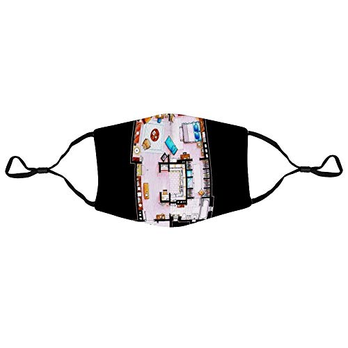 Mundschutz Sex and The City Floor Plan Personalized Anti-Dust Face Scarf Mouth Cover Face Cover