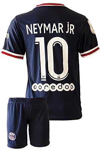 IHIMI Paris Neymar Jr Kinder Trikot #10, 2021/2022 Saison, Heim, Komm mit Shorts und Socken Fußballfans (8-9 Jahre,152)